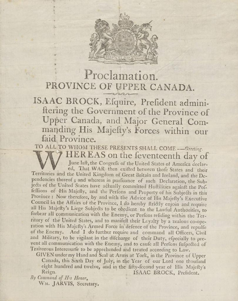 Brock Printed proclamtion