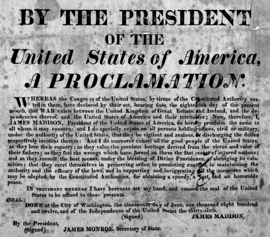 US proclamation
