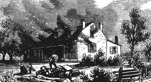 burning farmhouses