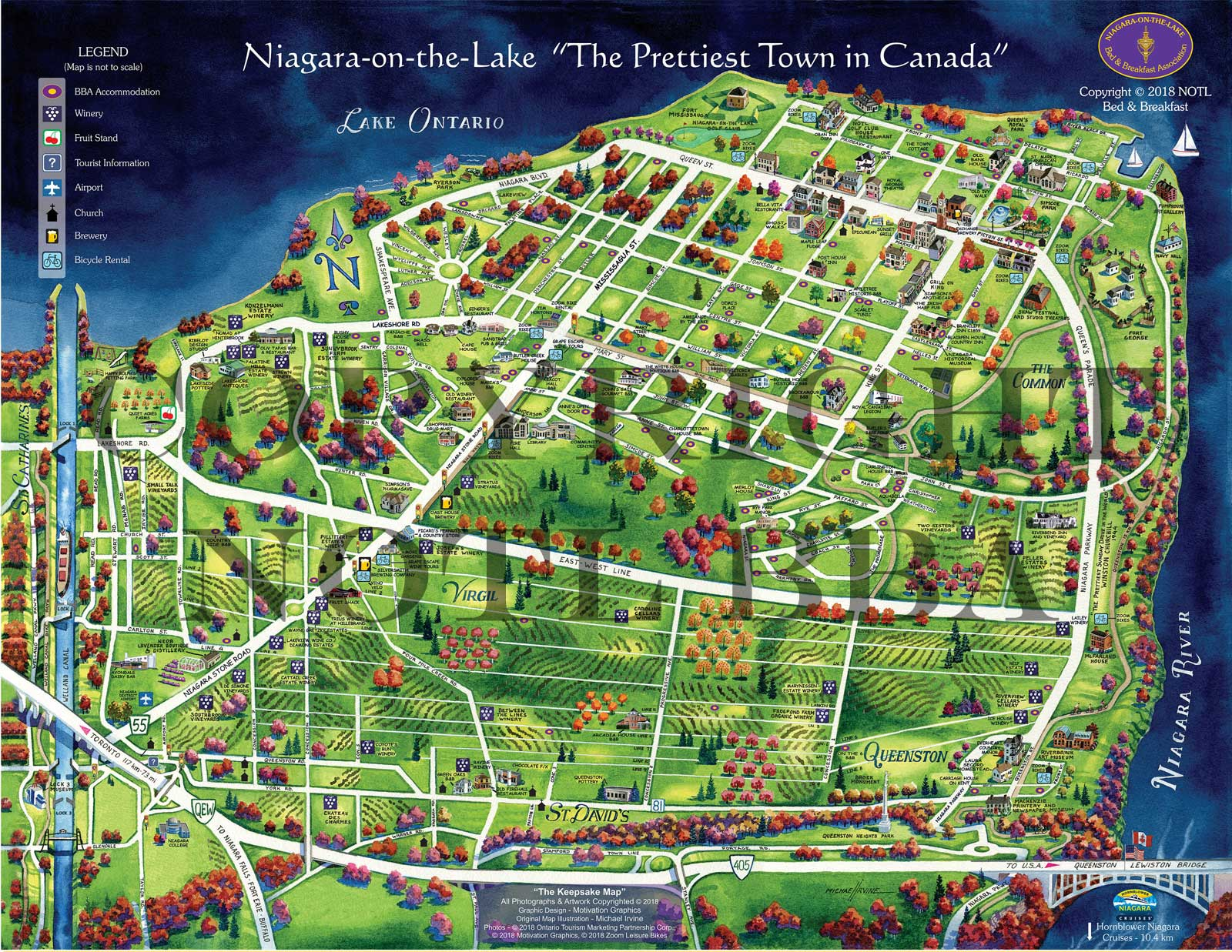 Map Of Niagara On The Lake Bed And Breakfast