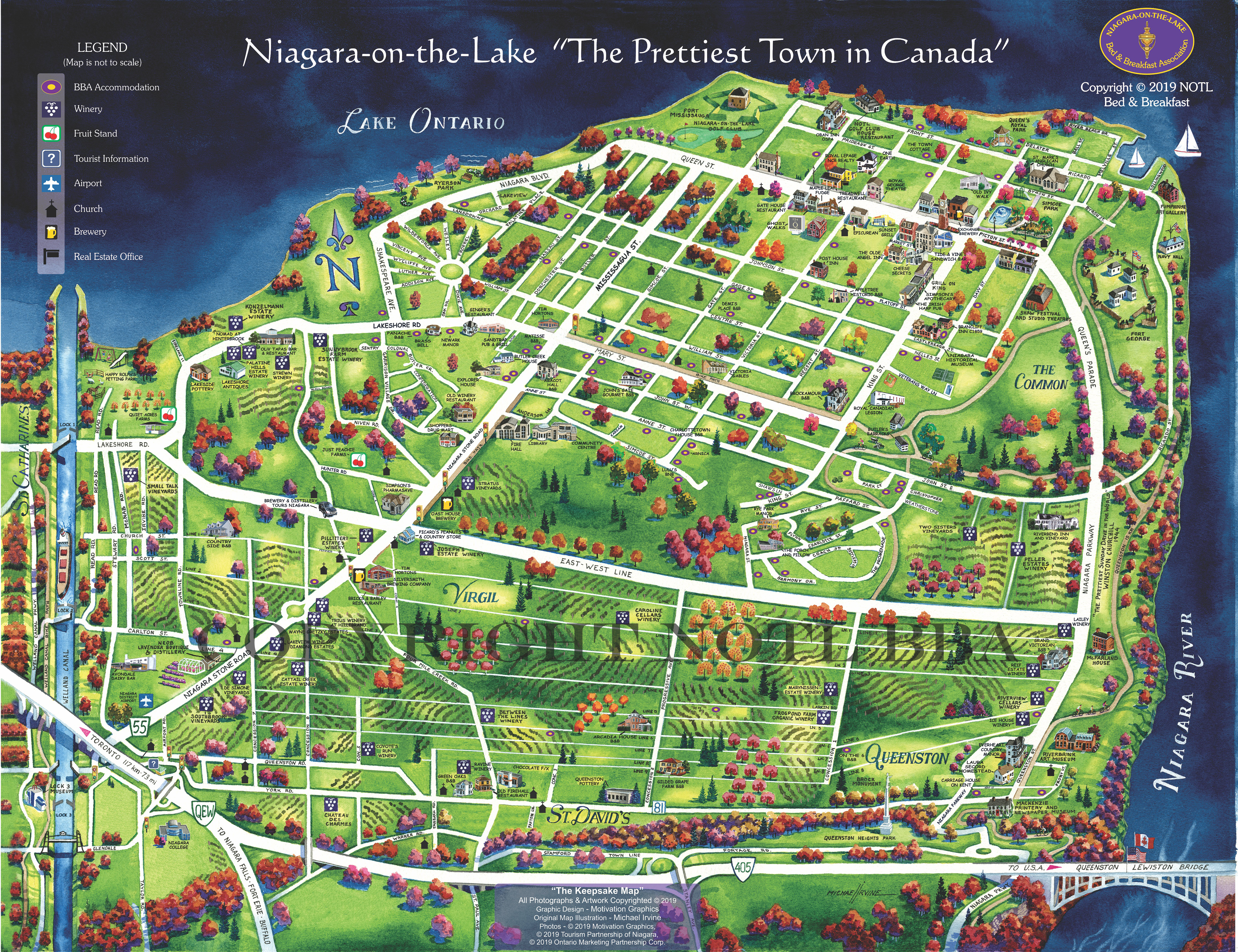 Niagara On The Lake Map Maps & Resources | Niagara On The Lake Bed & Breakfast Association